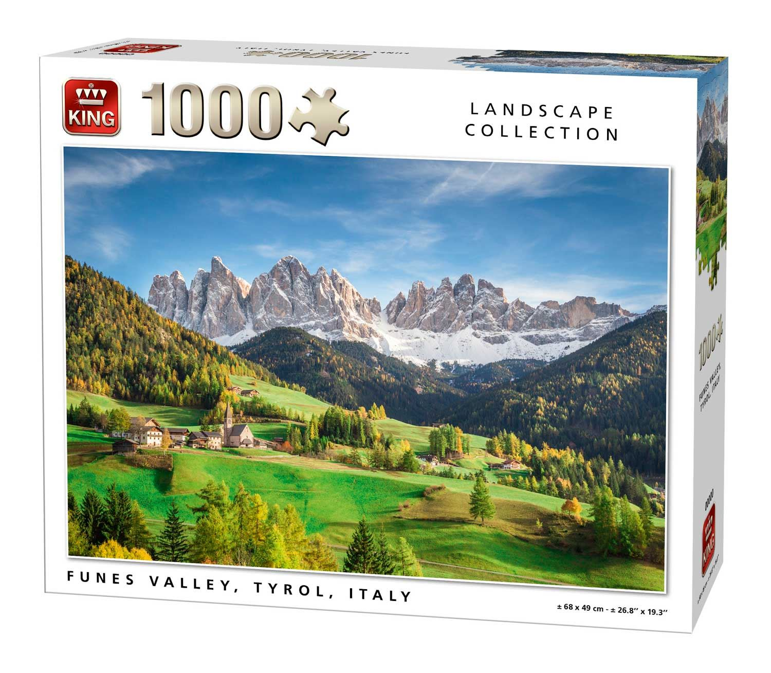 King Funes Valley, Tyrol Jigsaw Puzzle (1000 Pieces)