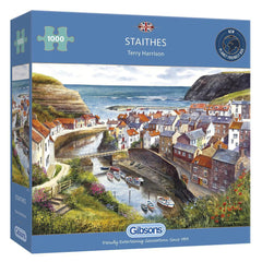 Gibsons Staithes Jigsaw Puzzle (1000 Pieces)