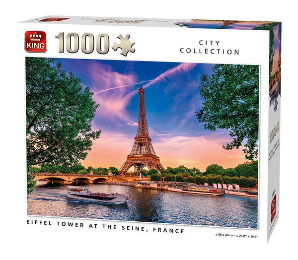 King Eiffel Tower At The Seine, France  Jigsaw Puzzle (1000 Pieces)
