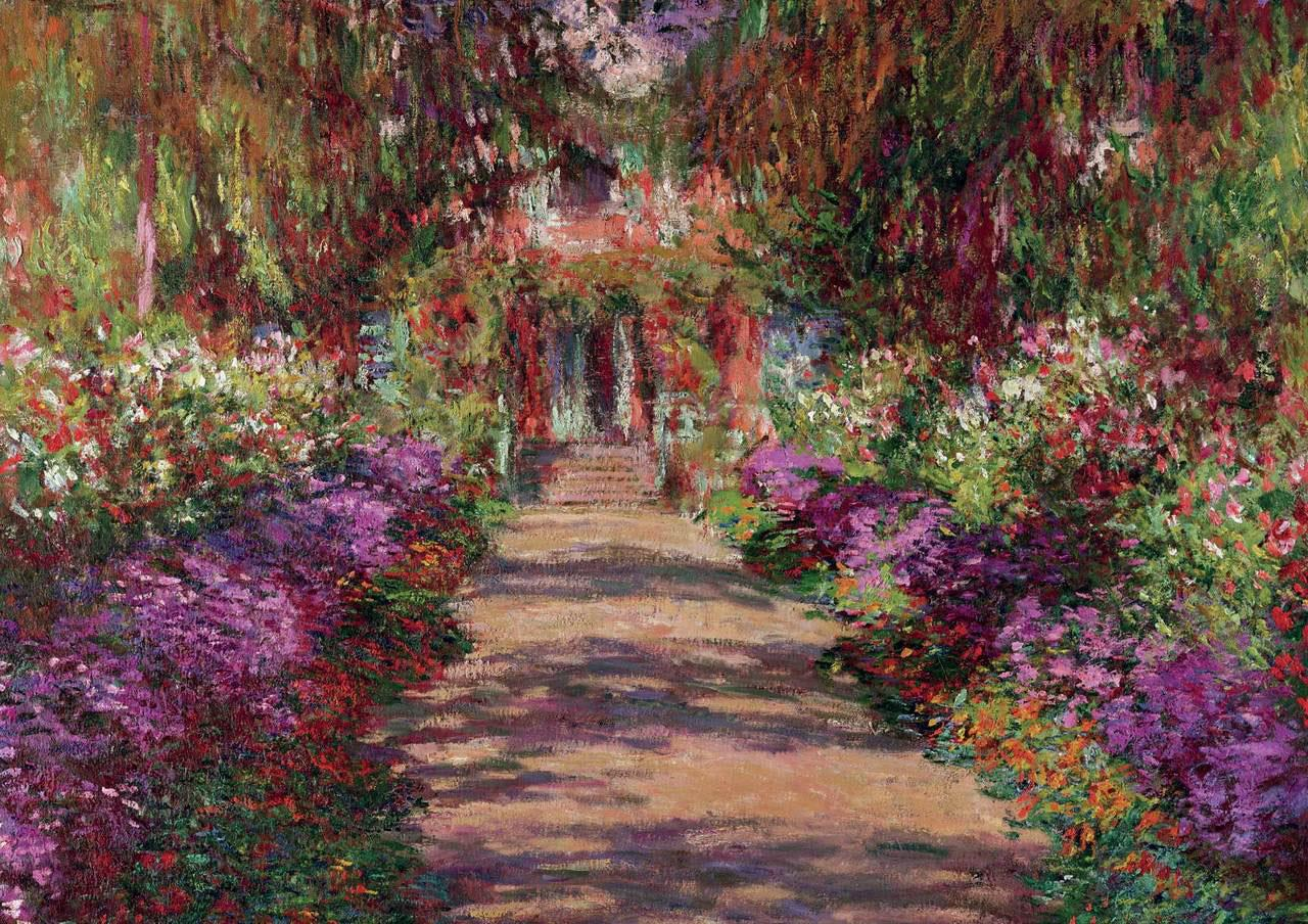 Piatnik A Pathway in Monet's Garden Giverny Jigsaw Puzzle (1000 Pieces)