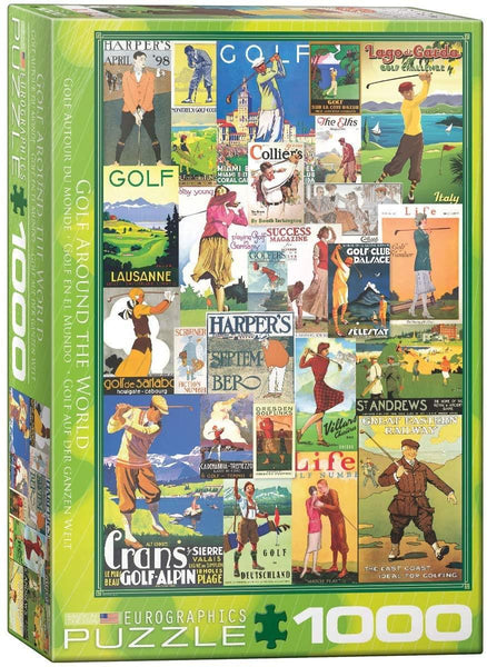 Eurographics Golf Around the World Jigsaw Puzzle (1000 Pieces)