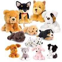 Dogs Soft Toy Tombola Game - Full Set