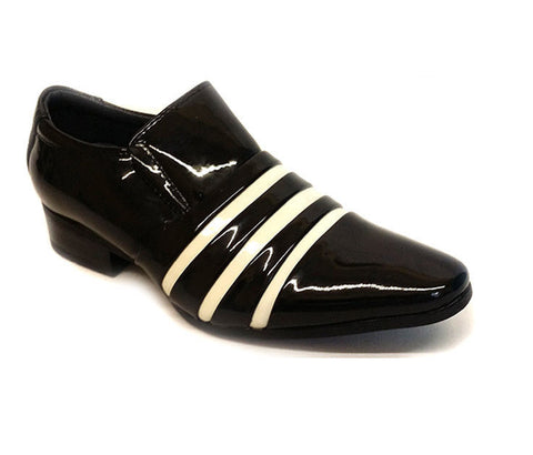 Boys Kids Infants Smart Shiny Patent Leather Wedding Formal Shoes Size UK 8.5-13