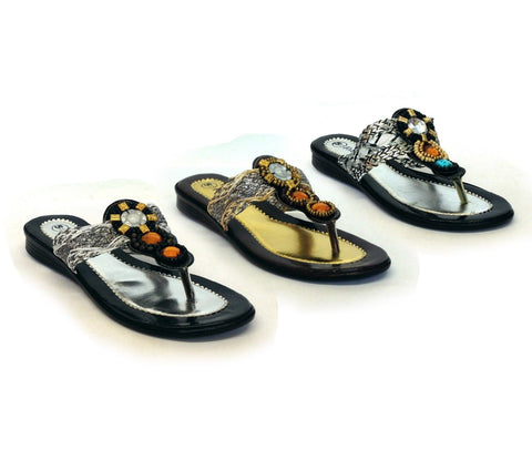 LADIES WOMENS SILVER SANDALS DIAMANTE COMFORT FLAT LOW HEEL BEACH SLIPPER SIZE