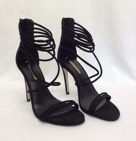 Ex New Look Womens Ladies Strappy Suedette Stiletto High Heels Sandal Shoes Size