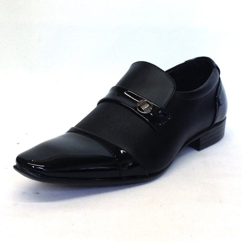 Mens Leather Look Shoes Casual Smart Office Wedding Work Formal Party Sizes New