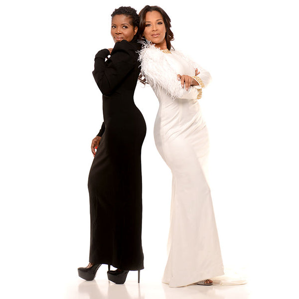 tebo dambe and lisaraye, designer dresses