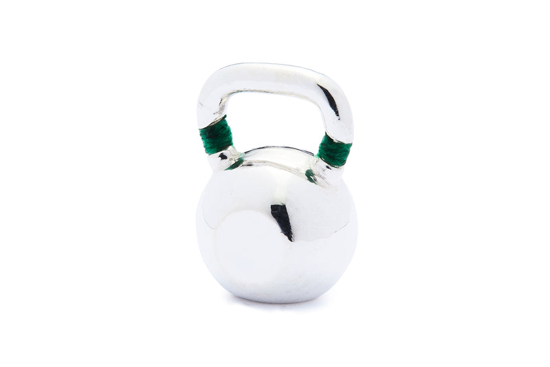 Large Colorblock Kettlebell - Silver