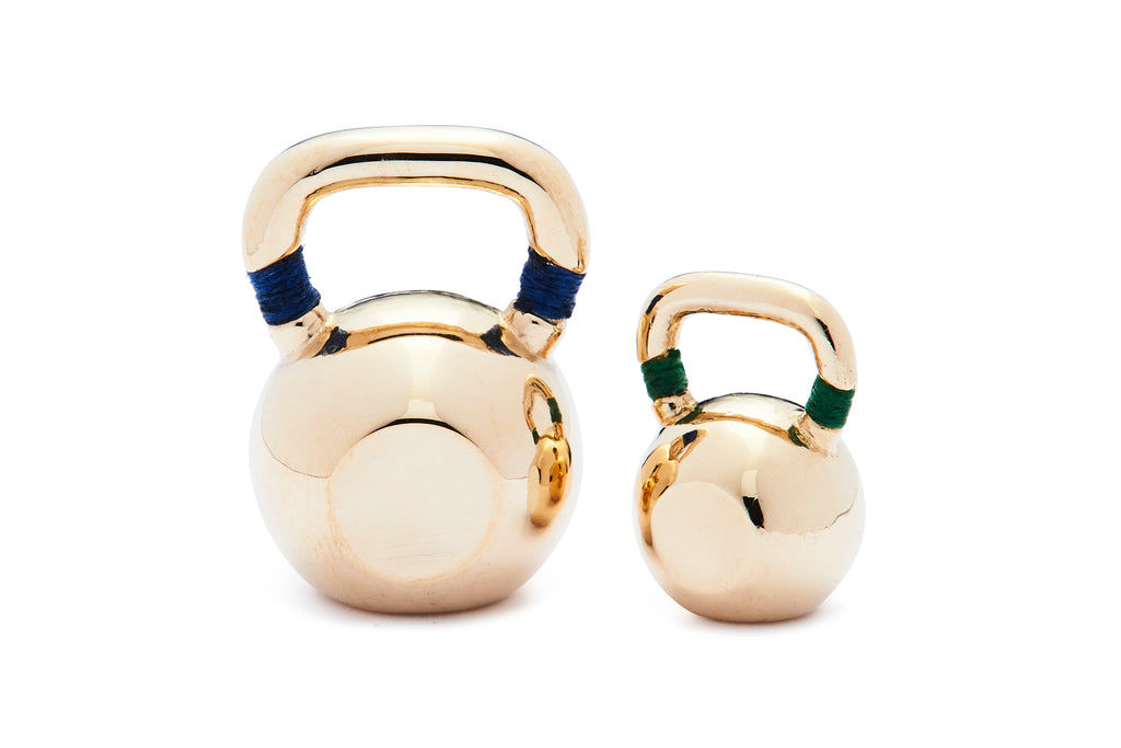 Mini Colorblock Kettlebell - Yellow Gold