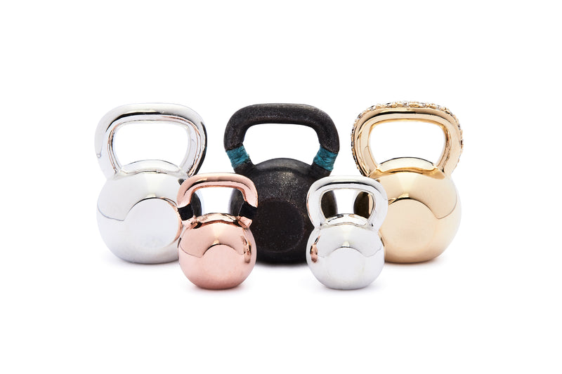 Large Colorblock Kettlebell - Yellow Gold
