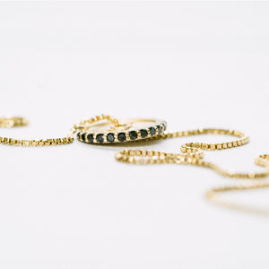 Yellow Gold Pavé 10LB Plate Necklace