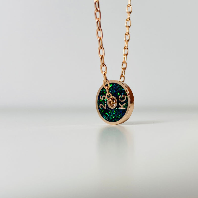 2.5KG - Rose Gold - Green and Black Opal