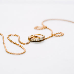 Rose Gold Pavé 2.5KG Plate Necklace