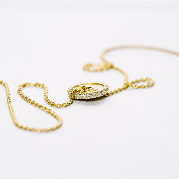 Yellow Gold Pavé 2.5KG Plate Necklace