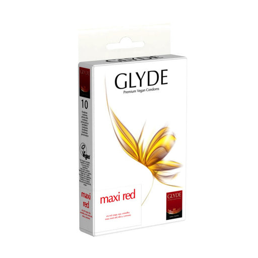GLYDE - 10 préservatifs Ultra Maxi Red extra larges Rouge