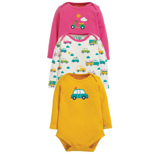 FRUGI - Lot de 3 Bodies manches longues coton bio - Transport