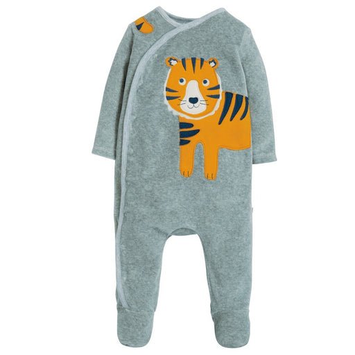 FRUGI - Pyjama Stevie Swoop velours coton bio - Grey Marl Tiger