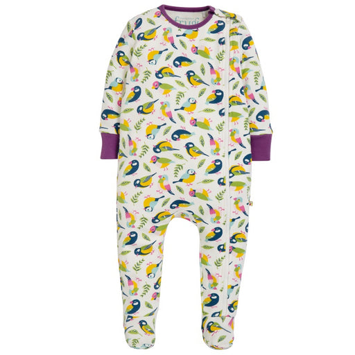 FRUGI - Pyjama Zipped coton bio - Soft White Tweet