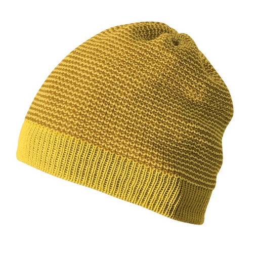 DISANA - Bonnet Beanie en laine mérinos bio - Curry Gold