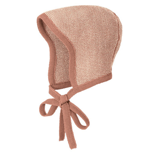 DISANA - Bonnet en laine mérinos bio - Rose Naturel