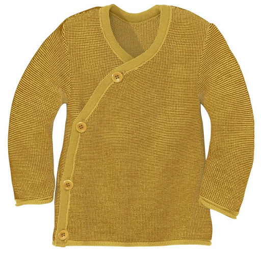 DISANA - Veste en laine mérinos bio - Curry Gold