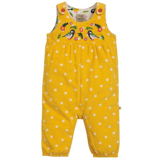 FRUGI - Salopette Willow velours coton bio - Bumble Bee spot Finches