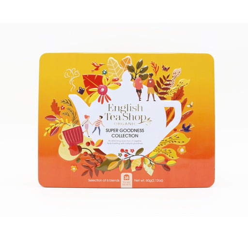 ENGLISH TEA SHOP - Coffret métallique super goodness 36 sachets de thés et infusions bio
