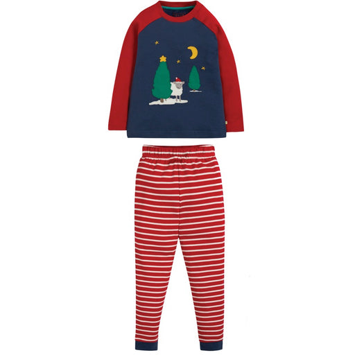 FRUGI - Pyjama Jamie Jim coton bio - Space Blue Festive Sheep