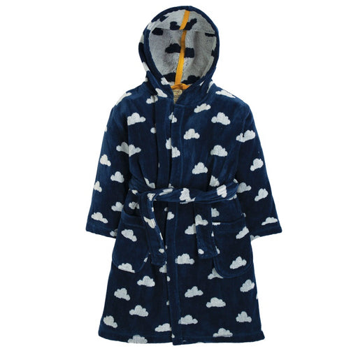 FRUGI - Robe de chambre Toasty Towelling coton bio - Space Blue Cloud