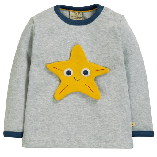 FRUGI - Top Button Off coton bio - Grey Marl Sea Friends