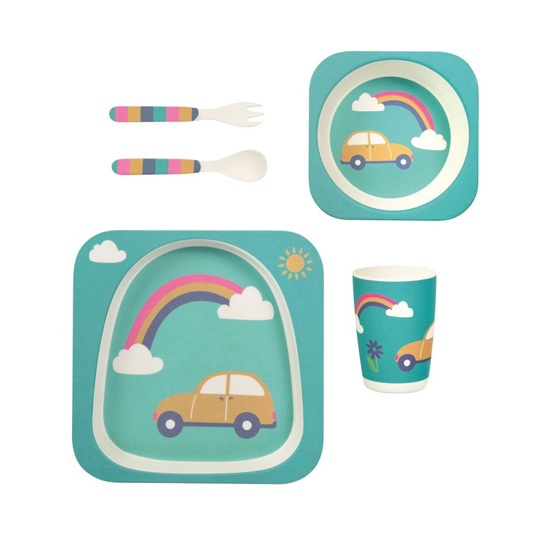 FRUGI - Set de diversification bambou - Arc-en-ciel