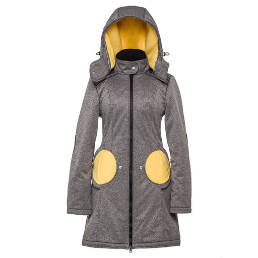LILIPUTI - Manteau de portage Mama Coat 4 en 1 - Grey Yellow