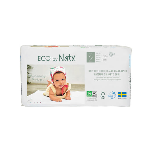 ECO BY NATY - 33 couches jetables écologiques – T2 3-6 kg