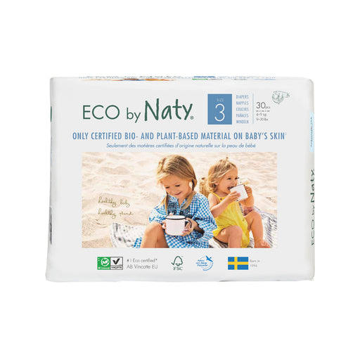 ECO BY NATY - 30 couches jetables écologiques - T3 4-9 kg