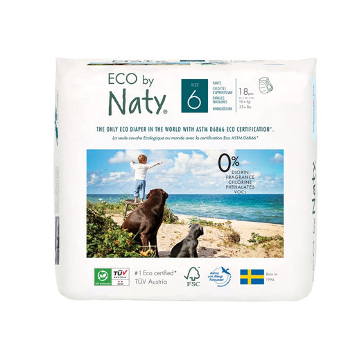 ECO BY NATY - 18 culottes d'apprentissage jetables - T6 +16kg
