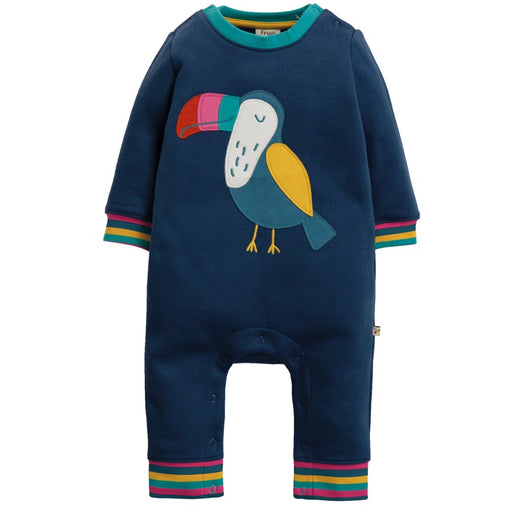 FRUGI - Combinaison Snug and Cosy coton bio - Space Blue Toucan