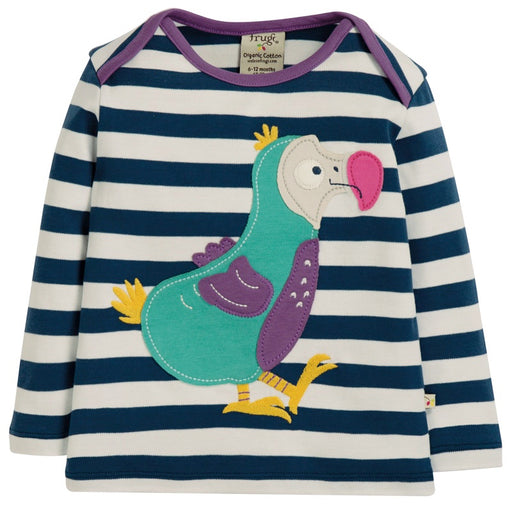 FRUGI - T-shirt manches longues Bobby coton bio - Space Blue Stripe Dodo