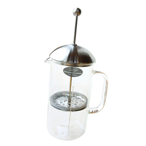 AH TABLE - Cafetière à piston Verre Inox 1 L