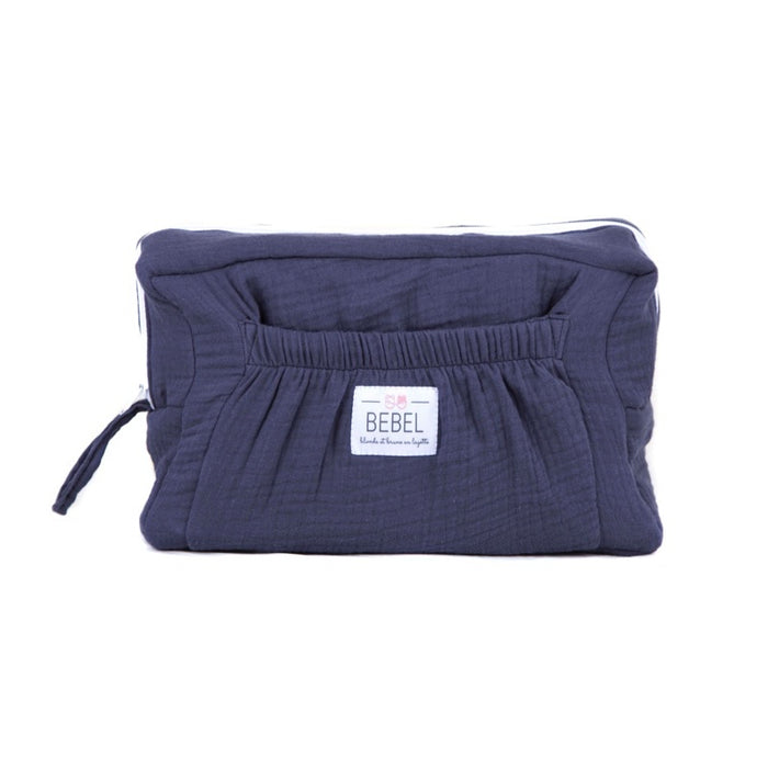 "BEBEL - Trousse de toilette coton oeko tex ""Comme un bonbon"" - Blueberry"