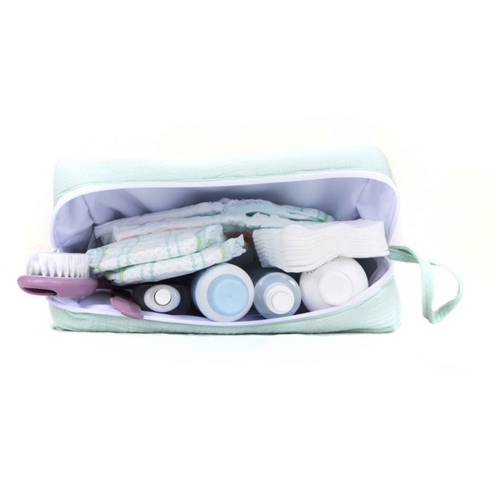 "BEBEL - Trousse de toilette coton oeko tex ""Comme un bonbon"" - Moutarde"