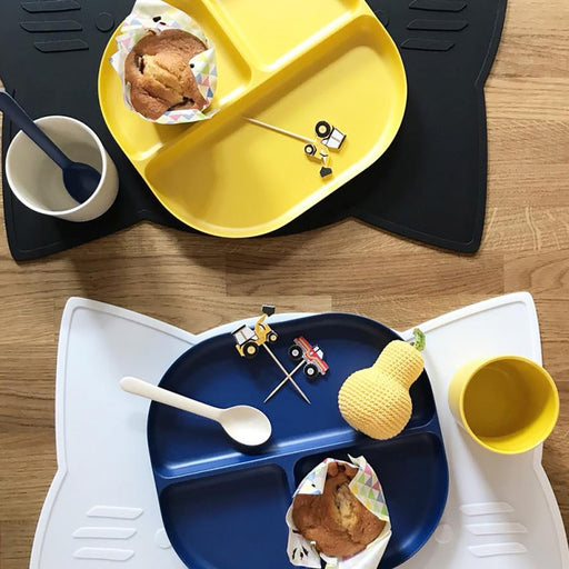 Biobu by Ekobo - Assiette compartimentée bambou - Royal Blue