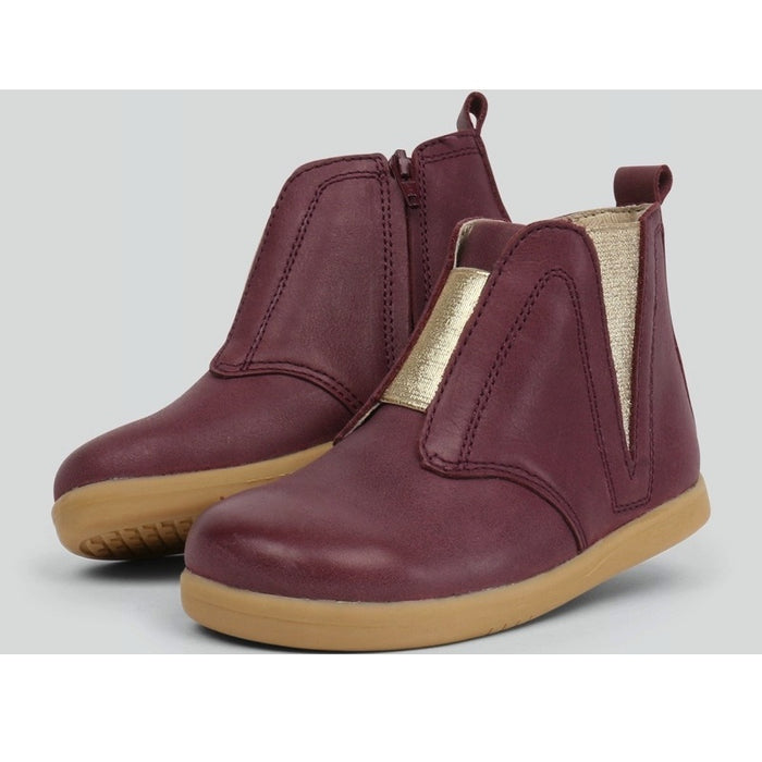 Bobux - Bottines cuir souple Kid+ Signet - Plum
