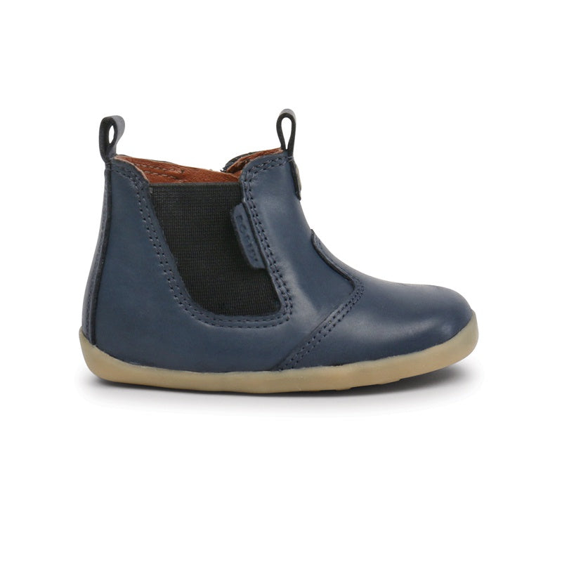 Bobux - Bottines cuir souple Step Up Jodphur boot - Navy