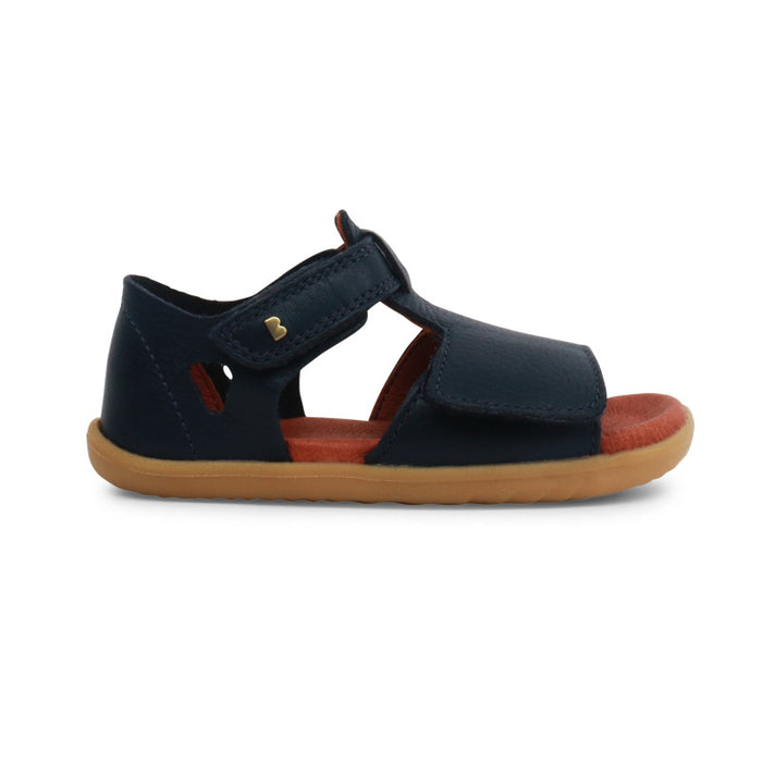 Chaussures Up Bobux Mirror Souple Cuir Step Navy WE9HD2I