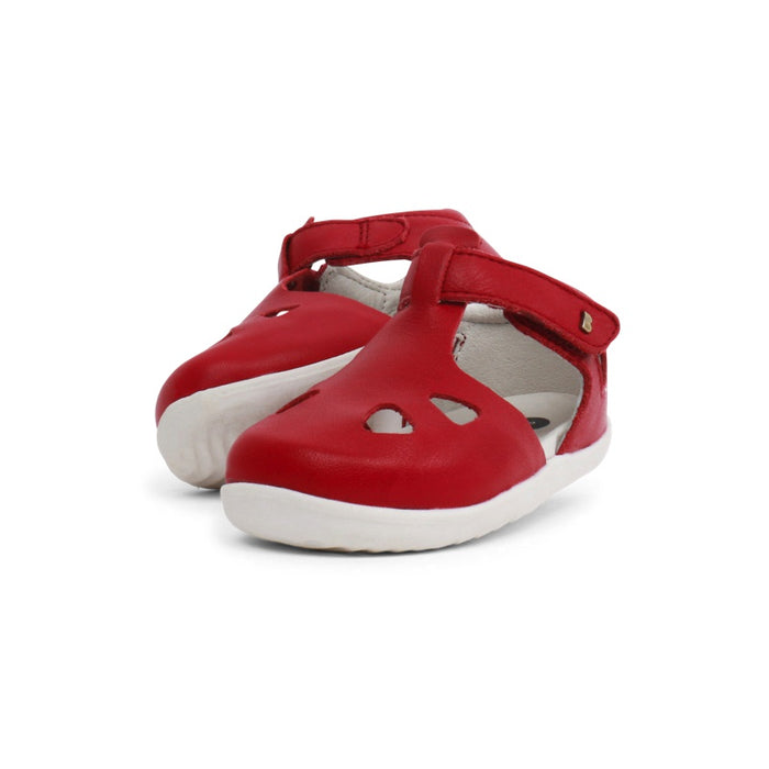 Rio Chaussures Souple Red Cuir Step Up Bobux Zap Ib7fgyvY6m