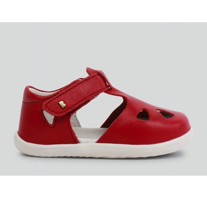 Souple Step Bobux Rio Chaussures Cuir Zap Up Red tsChQdrx