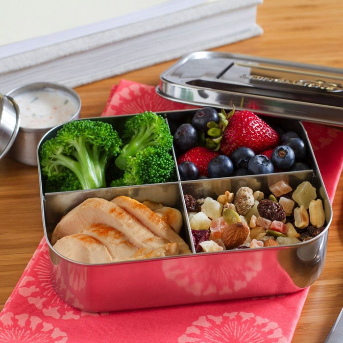 LUNCHBOTS - Boîte inox 4 compartiments - Stainless