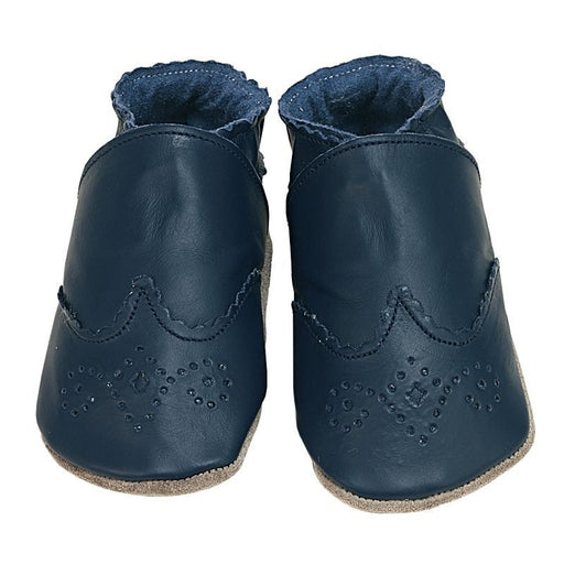 STARCHILD - Chaussons cuir souple - Brogue Navy