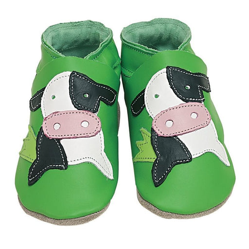 STARCHILD - Chaussons cuir souple - Cow Green