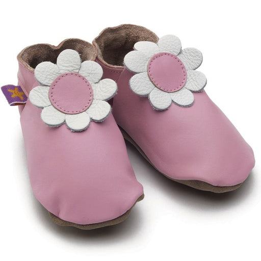 STARCHILD - Chaussons cuir souple - Daisy Baby Pink